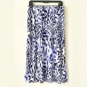 NWOT Chico's Easywear Animal Print Skirt